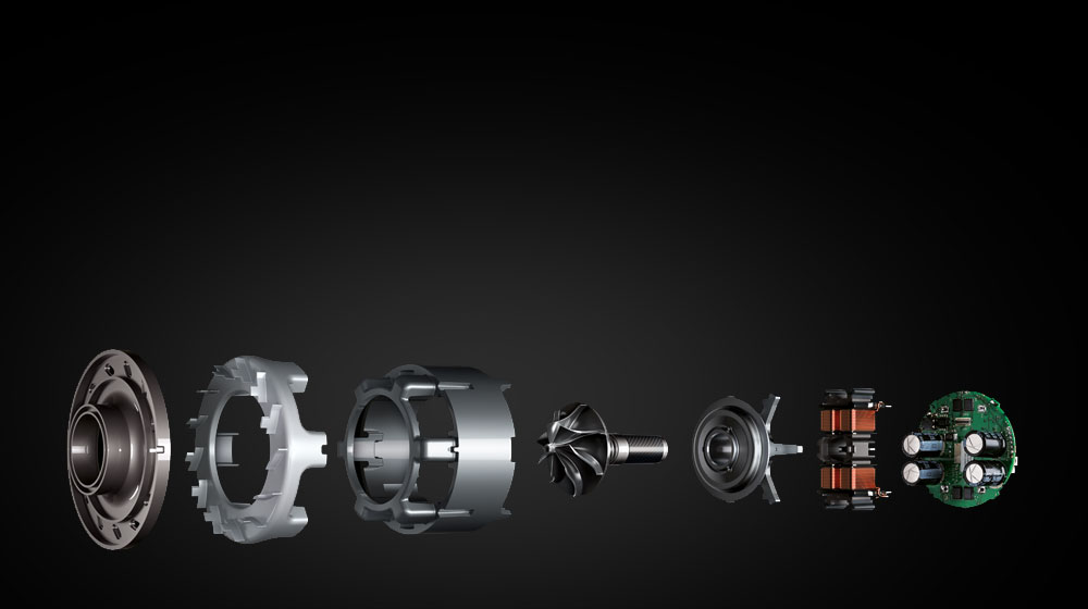 Image showing the parts of the Dyson digital motor V6