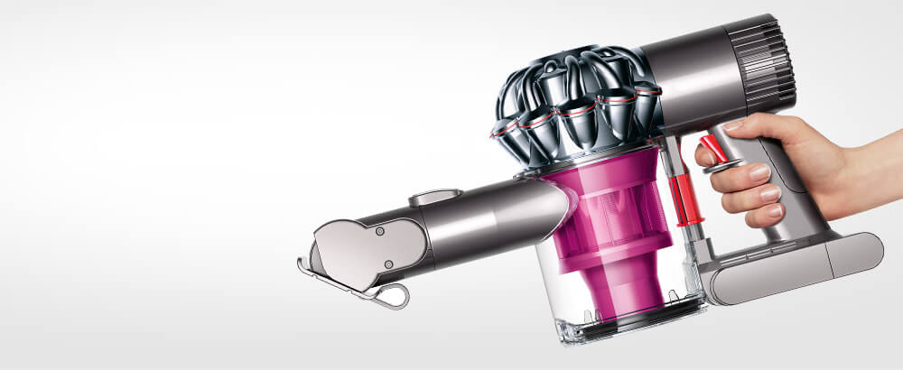Dyson V6 Trigger+ being held