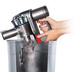 Demonstration of emptying the DC56 Dyson Hard bin